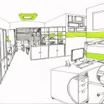 طراحی داخلی مرکز مهر
